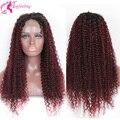 150 плотность два тона ломбер кружева перед глубокая волна парики бразильский девы человеческих волос glueless фронта шнурка фигурные парики для чернокожих женщин