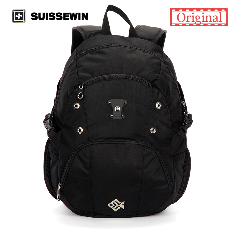 Suissewin Fashion Brand Casual Women and Men Backpack Swissgear Quality Waterproof Laptop Backpack Stylish School Bagpack SN7018