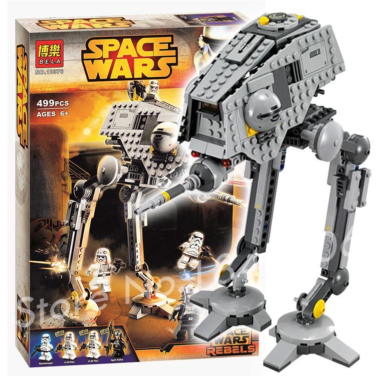 499pcs 2016 Bela 10376 font b New b font Star Wars AT DP Building Blocks Toys