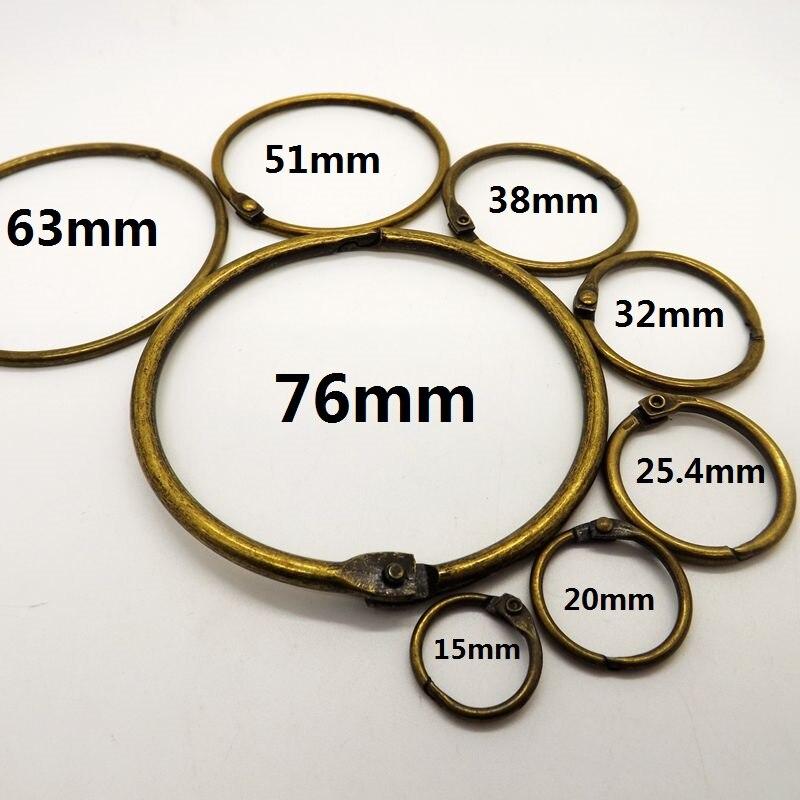 aliexpress 10 unidades pacote bronze livro da folha solta binder articulada aneis atacado