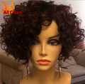 Short Curly Bob Wig Virgin Human Hair Bob Wig Lace Front Glueless Full Lace Wigs With Baby Hair Short Full Lace Bob Wig Freeship