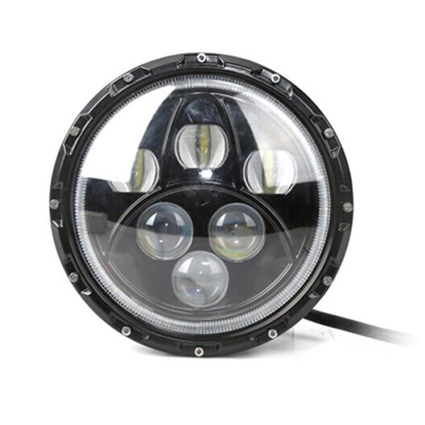 Горячая Продажа ! 60Вт 12В/24В 7-дюймовый Хай-Лоу с ангел глаза DRL круглые фары автомобиля дальнего света фар используется для jee-п грузового автомобиля в JK