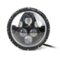Hot Sale ! 60w 12v/24v 7inch Hi / Lo with angel eyes DRL Round Car Headlight Driving Light headlamp used For Truck Jee p JK