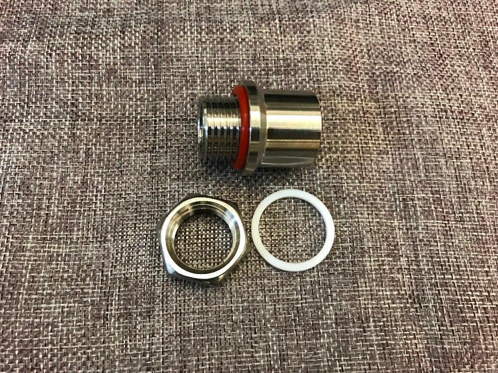 Stainless Steel Weldless Bulkhead Fitting for Beer Faucet tap Keg Fermenter , 1/2BSP
