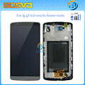 High quality Replacement lcd display with touch screen digitizer frame for LG G3 D855 lcd D850 D851 D855 LCD assembly+free tools