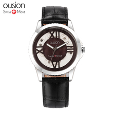 Simple Fashion Ousion Watch 3ATM Business Men Wristwatch Genuine Leather Belt Watches Man Watch Luxury Watch