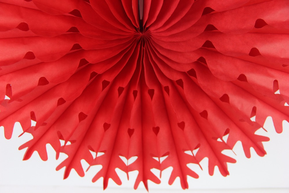 10pcs 50cm Large Tissue Paper Snowflake Fans Party Decoration Hanging Wall Paper Decor Background Christmas Decoration For Party in Pendant Drop Ornaments from Home Garden