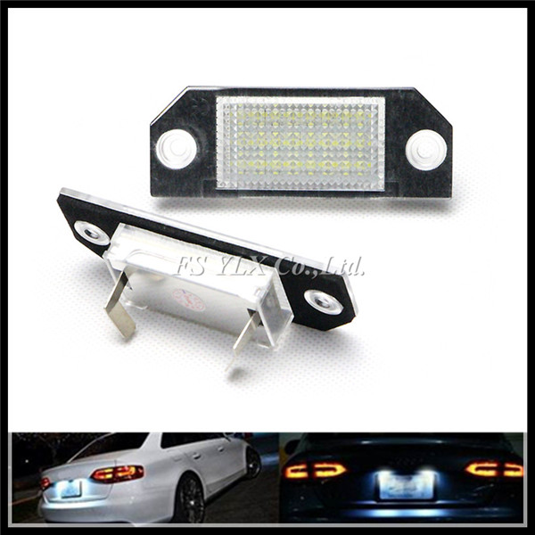 FOR FORD FOCUS MK2 (03-08) 24 LED SMD Replacement Number License Plate lights LED number Plate lamps for Ford Focus C-MAX white от Aliexpress INT