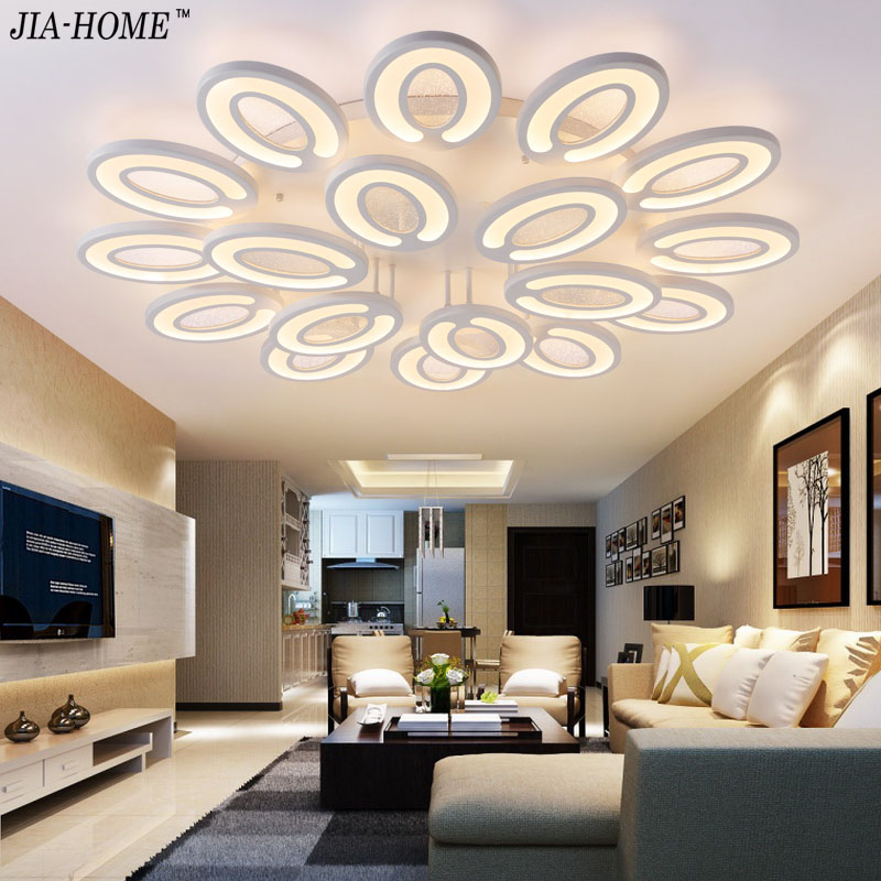 Led light ceiling remote control dimmable 3/5/9/12/15 Lamps  Acrylic Ceiling Lamp  for living room  bedroom lamparas de techo noosion modern led ceiling lamp for bedroom room black and white color with crystal plafon techo iluminacion lustre de plafond