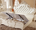 Microfiber leather hand carving bed 8862