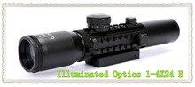 Buy online Tactical Illuminated Optics Air rifle 1-4X24 E Telescopic Gunsight Riflescope for espingarda de ar comprimido