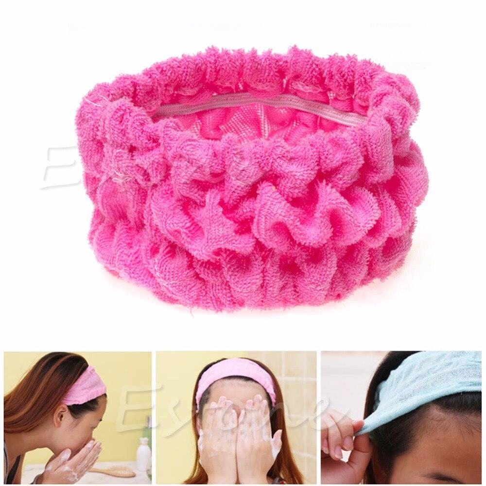New Soft Elastic Headband Bath Spa Make Up Shower Hair Band Headwrap Holder