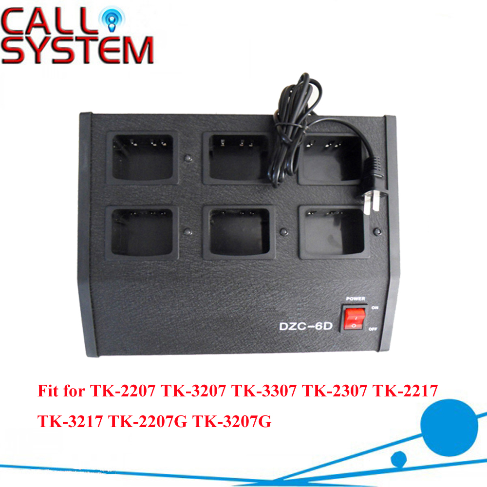 6 Way 6-Unit Rapid Charger Station for Handheld Radio TK-2207 TK-3207 TK-3307 TK-2307 TK-2217 TK-3217 TK-2207G TK-3207G