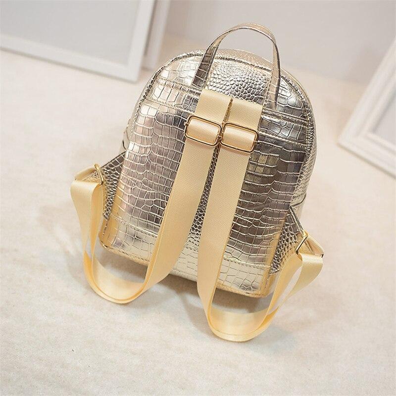 mochilas mini crocodile grain pu Material Principal : Plutônio