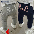Retail boys pants autumn kids harem pants 2 colors girls pants cotton trousers kids clothes cute cat pattern children clothes