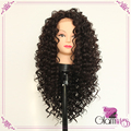 Kinky Curly Black Color Wigs Synthetic Lace Front Wigs 180% Density Heat Resistant Synthetic Hair Glueless Wigs