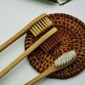 Envío gratis 2 unids/lote cepillo de dientes cepillo de dientes de bambú de madera Natural, cepillo de tres colores, envío al azar