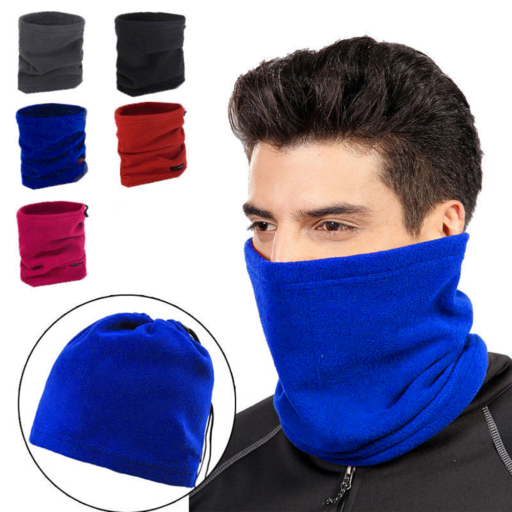 Polar Fleece Thermal Neck Warmer Winter Sports Gaiter Face Mask Snood Hat Scarf