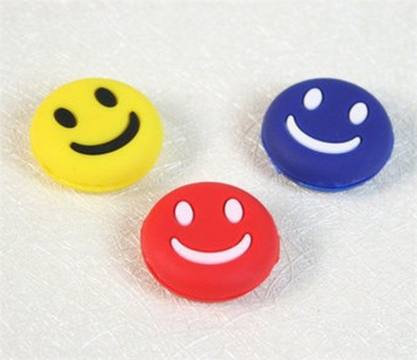 200 pcs Lovely Cute Mini Smile Face Shock Vibration Dampener Absorber for Tennis font b Racquet