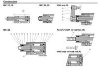 смц mkb50-50л ротари зажим цилиндра ротари направление против часовой стрелки