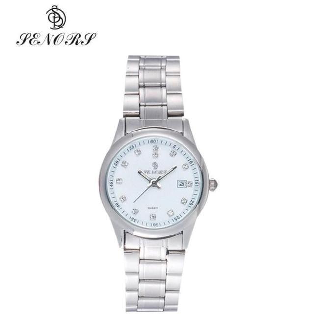 New Watch Women Watches Silver Crystal Stainless Steel Small Dial Analog  Relogio Feminino Clock Dress Quartz watch 9d13f8df6b3c