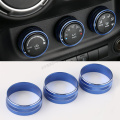 3PCS ABS Blue Interior Air Condition Cover Trim for Jeep Wrangler Compass Patriot 2007-2015