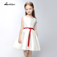 2016 White/Rose red Ball Gown Sweetheart Flower Girl Dresses Bridal Girl Gown With Many Flowers For Party and Wedding