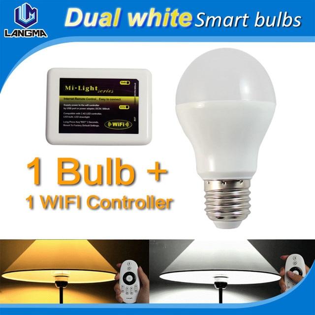 iphone controlled smart home lighting wifi smart bulb warm/cool ...