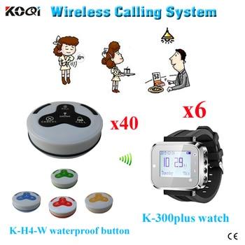 Ycall brand KTV bar coffee house restaurant calling bell system waiter watches wireless waiter call bell