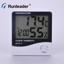 Discount! New Digital LCD Temperature Humidity Meter Indoor/Outdoor Room Thermometer Clock Hygrometer with sensor
