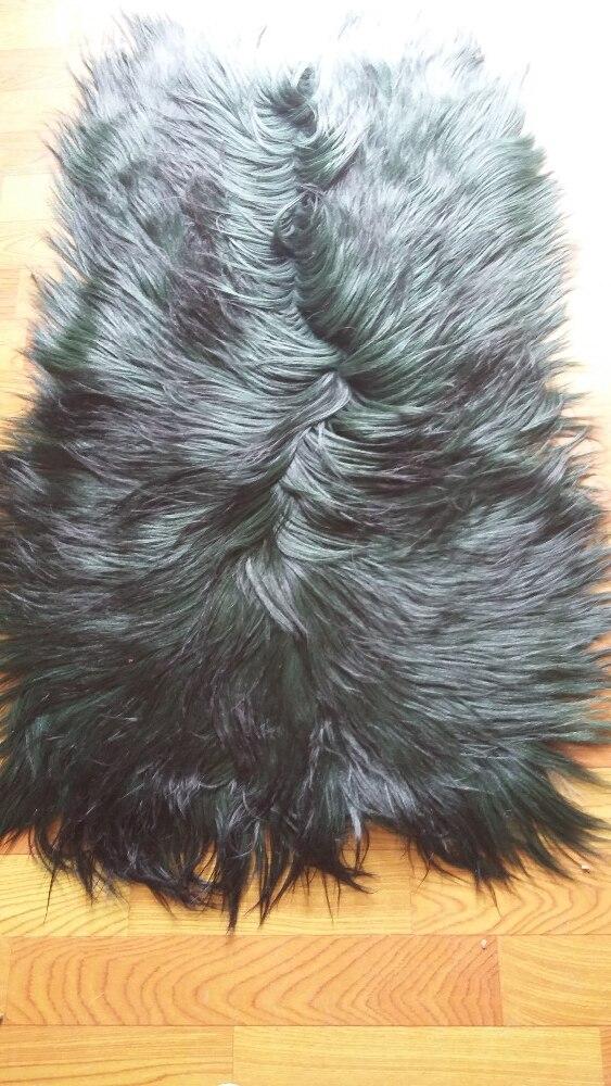 Tibetan Lamb Rug Mongolian Lamb Skins / Black Goat Fur Skin