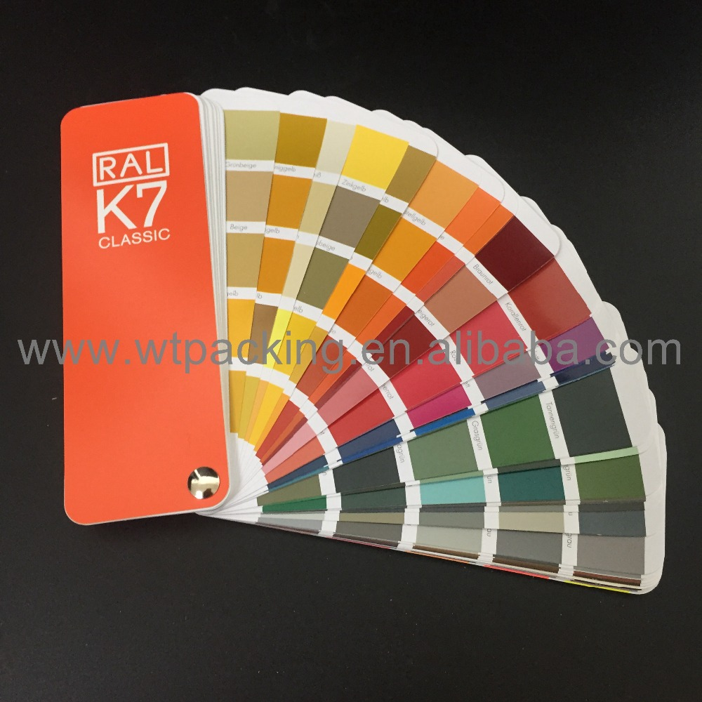1 book 20*50mm 213 Kinds New RAL K7 Classic Colors Guide Ral Color Chip ral k7 paint color page chip card brochure