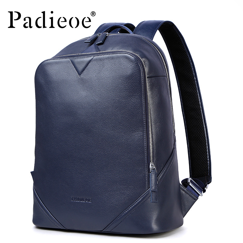 Padieoe Luxury Brand Women Leather Bagpack with Pockets High Quality Genuine leather Men Women Backpacks Fashion School BagsPadieoe Luxury Brand Women Leather Bagpack with Pockets High Quality Genuine leather Men Women Backpacks Fashion School Bags