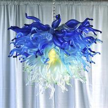 Современный минималистичный AC 110 220 вольт светодиодный светильник высокого качества люстра из цветного стекла для дома