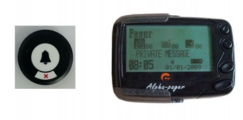 Pocsag call button, restaurant paging system, alpha pager, server calling system,bell wireless service, emergency/waiter