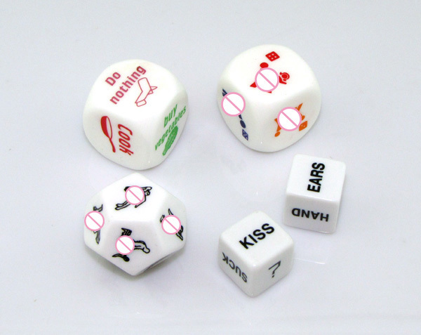 Free Shipping! Sex Dice, 5 Designs/Pack, Gambling Erotic Craps, Adult Sex Toys, Sex Products, Sex Fun Toys, Passionate Positions
