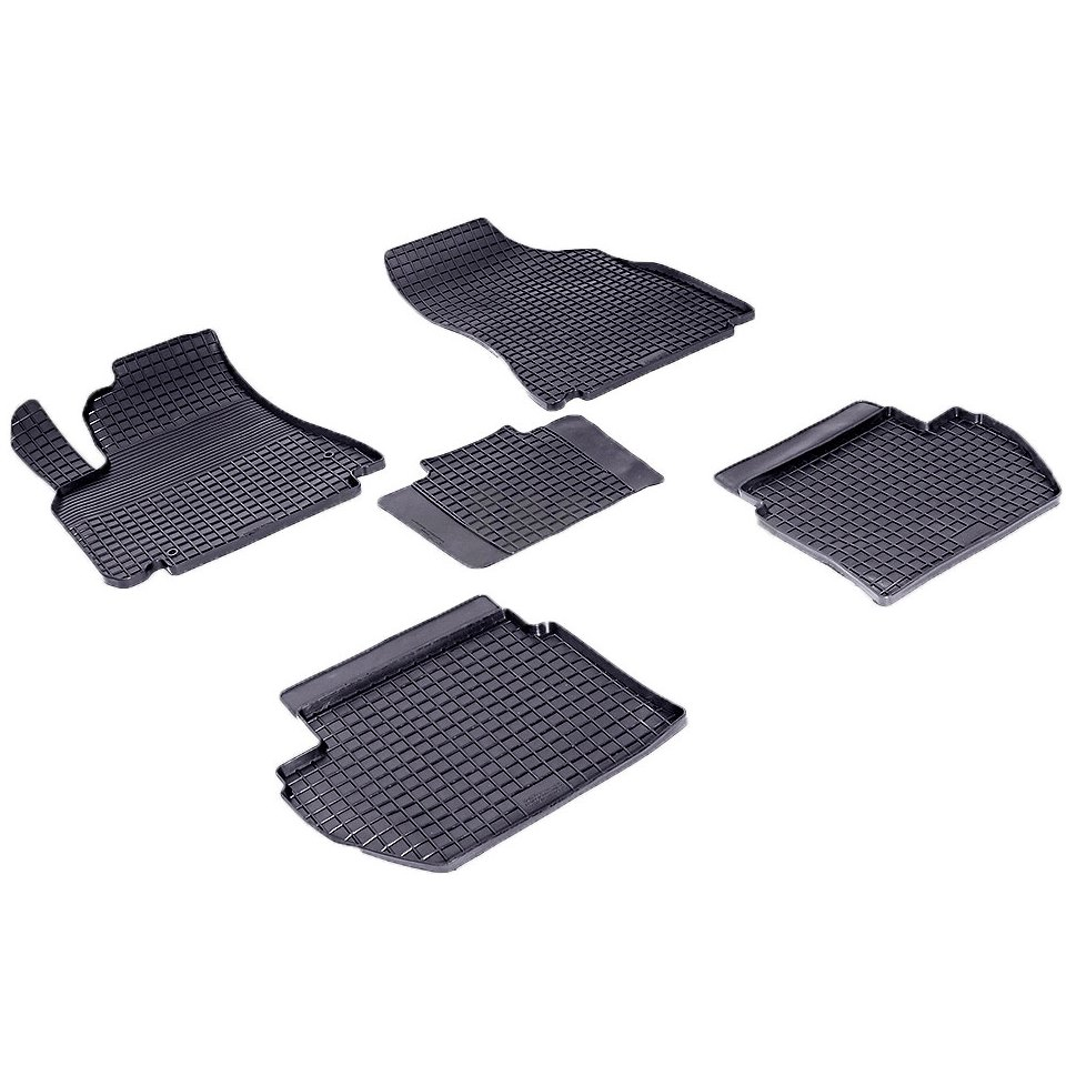 Rubber grid floor mats for Peugeot Partner 2008 2009 2010 2011 2012 2013 2014 2016 Seintex 84922 rubber grid floor mats for honda accord viii 2008 2009 2010 2011 2012 seintex 00758