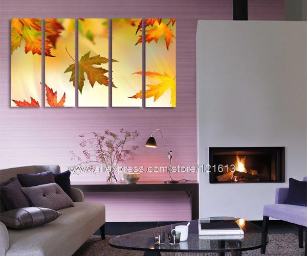 Falling Leaves Gallery Wrapped Canvas Panel Et Choice Of Oil ...