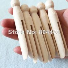 24 Pack Of Beautiful Wood Dolly Pegs doll pins Solid wood pegs traditional pegs smooth and strong can personalized text and font