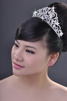 бесплатная доставка мода сплава горный хрусталь театрализованное свадебные корона диадема j052