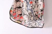 cl289 Европа стиль nepal бассейн цветок печать хлопок рубашка весна лето осень женщины леди