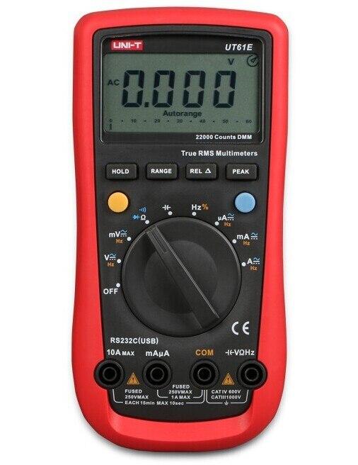 UNI-T UT61E Digital Multimeter auto range true RMS Peak value RS232 REL AC/DC amperemeter uni t UT 61E multimeter мультиметр uni t uni t ut61d true rms rs232 rel uni t 61d