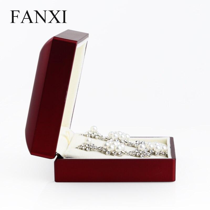Oirlv Red Velvet Jewellery Display Set Box