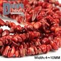 Red coral contas Cascalho Irregular Freeform Chips de coral Natural 86 cm strand stone beads Jóias pulseira fazendo DIY Acessórios