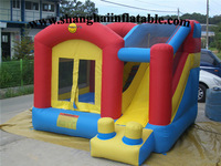 2016 bouncy castle pvc with silde/ inflatable bouncer jumping house with slide for sale