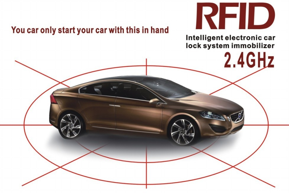 Free Shipping English Version RFID 2 4 GHz wireless car immobilizer Anti hijacking on and off