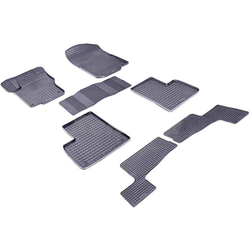For Mercedes-Benz GL-class X166 2012-2019 rubber grid floor mats into saloon 7 pcs/set Seintex 85172