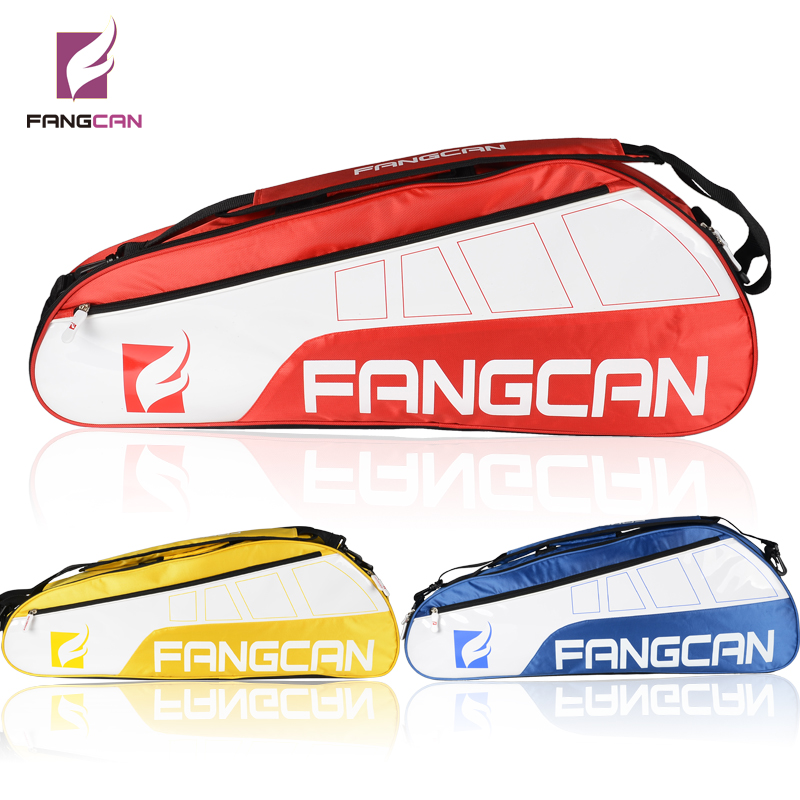 1 pc FANGCAN FC1201 Tennis Racket and Squash Racquet Bag Single Compartment 3pcs Capacity Sports Gym Bag 36-55L