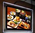 Moldura de Acrílico CONDUZIU a Iluminação do Painel Do Menu do Restaurante fino A1 Cartaz Lightbox Publicidade Signage