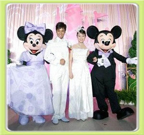 Cute Minnie wedding dress Mickey Mouse Mascot Costume cartoon ...